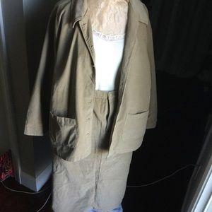 C.s.t. Sport Corduroy Jacket 24W Skirt 20W